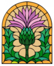 Thistle stained glass design