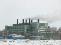 Krinks Power Station in the snow.