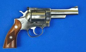 Double action revolvers were standard issue for many police forces 30 years ago. While modern urban police use semi-automatics almost exclusively, revolvers remain popular with security guards and with rural police. This model can fire both .357 magnum and .38 spl ammunition.