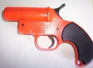 A typical flare gun.