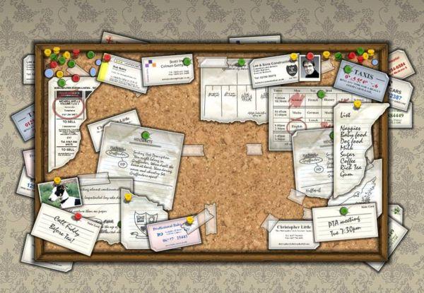 a bunch of stuff bulletin board