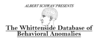 The Whittenside Database of Behavioral Anomolies