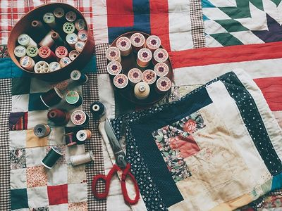 Scraps and patches make a quilt